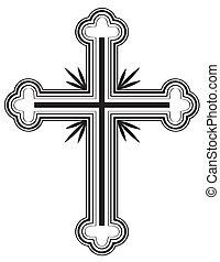 arte, clip, apostólico, cruz, tradicional, armenio, iglesia
