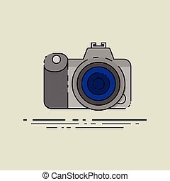 arte, clip, câmera, caricatura