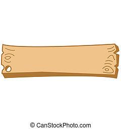 arte, clip, de madera, señal, occidental, frontera
