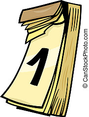 arte,  Clip, pared, 1ero, calendario, caricatura