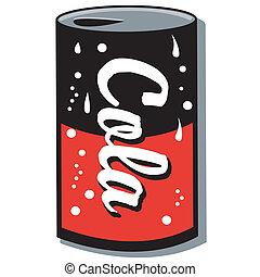 arte, clip, schiocco può, soda, cola