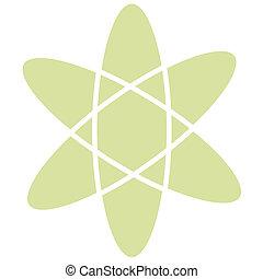 arte, clip, vindima, atômico, átomo, retro