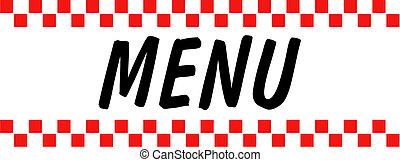 arte, clip, vindima, sinal, retro, menu
