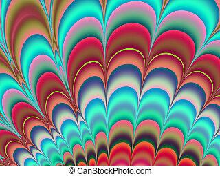 arte, colorido, plano de fondo, fractal