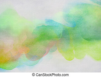 arte, colorido, resumen, acuarela, fondo., digital, painting...