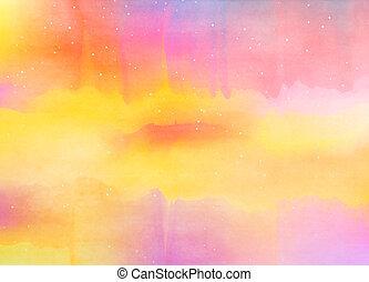 arte, colorido, resumen, acuarela, fondo., digital, pintura