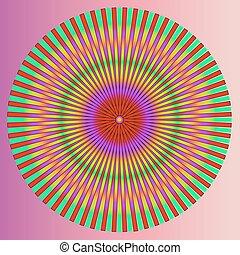 arte, coloridos, abstratos, illustratio, experiência., vetorial, piscodelica