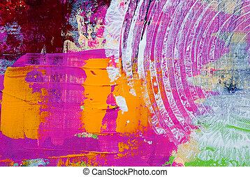 arte, coloridos, fundo