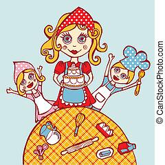arte culinária casa, família