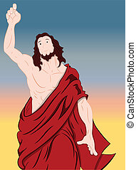 arte, de, jesucristo, retrato