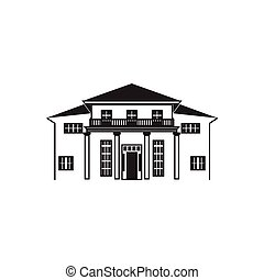 arte de línea, casa, mansión