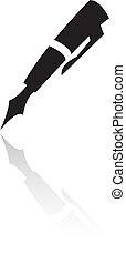 arte de línea, negro, pluma