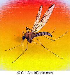 arte digital, mosquito