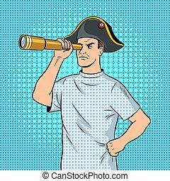 arte, enfermo, taponazo, vector, napoleon, pirata, mentally,...