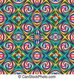 arte, estouro, mosaico