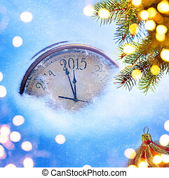 arte, eva, años, 2015, nuevo, navidad