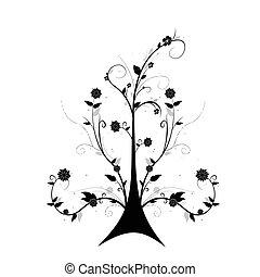 arte floral, árvore
