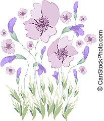 arte floral, pintura aquarela