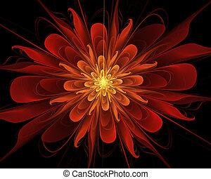 arte floral, plano de fondo, resumen, fractal, proyectos