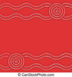 arte, format., aboriginal, vetorial, fundo, australiano