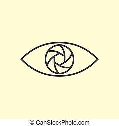 arte, fotografia, disegno, logotipo, linea, eye.