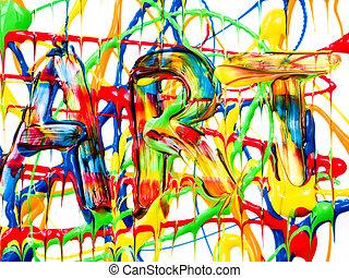 arte, fundo