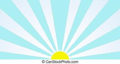 arte gráfico, clip, sol, mañana, durante, salida del sol