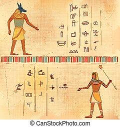 arte, humano, egipcio