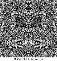 arte, jardim, padrão, abstratos, seamless, fundo, mandala, mosaico
