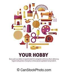 arte, manifesto, creativo, vettore, bricolage, hobby