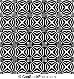 arte, modello, seamless, ottico, fondo, illusione, op