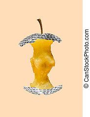 arte moderna, apple., collage., contemporaneo, alternativa, design.