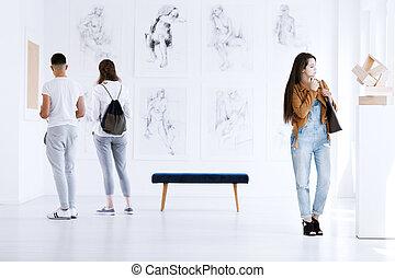 arte, mostra, galleria