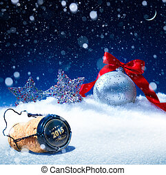 arte, nieve, eva, background;, año nuevo, navidad