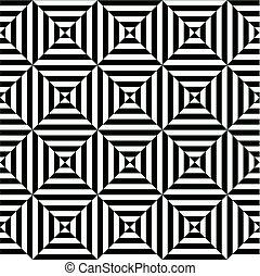arte, padrão, seamless, óptico, fundo, ilusão, op
