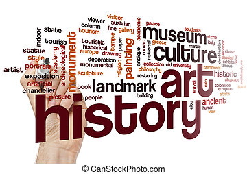 arte, palavra, nuvem, história