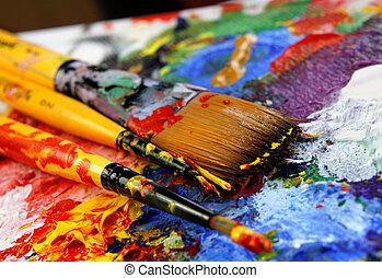 arte, paleta