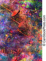 arte, pintura abstrata, criança