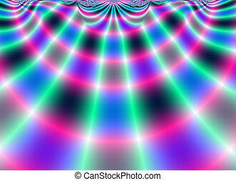 arte, plano de fondo, fractal, brillante, metálico