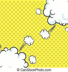 arte, pontilhado,  explotion, estouro, desenho, Nuvens