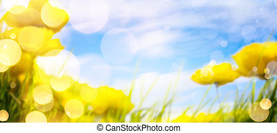 arte, primavera, fundo