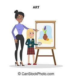 arte, professor, student.