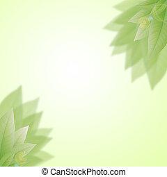 arte, resumen, natural, fondos, con, fresco, follaje