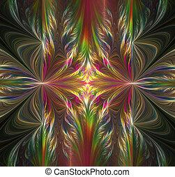 arte, resumen, proyecto, fondo negro, fractal