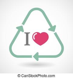 """"""", arte, segno, riciclare, like"""", linea, icona, glyph"""