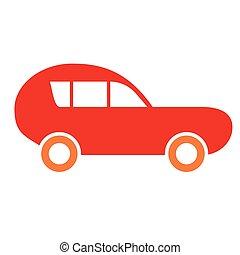 arte, semplice, automobile, illustrazione, geometrico, sport