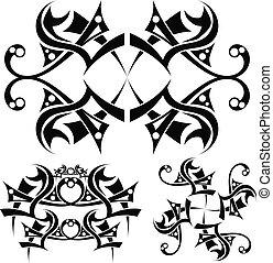 arte, tribal, diseño