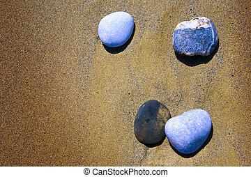 arte, vazio, verão, praia, experiência., um, areia praia