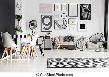 arte vivente, stanza, galleria