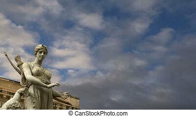Artemide fountain. Syracuse (Siracusa, Sarausa)-- historic...